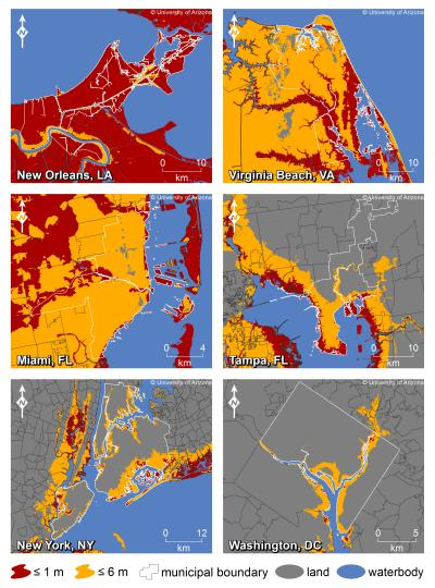 Rising seas will affect major US coastal cities by 2100 (Constantine ...