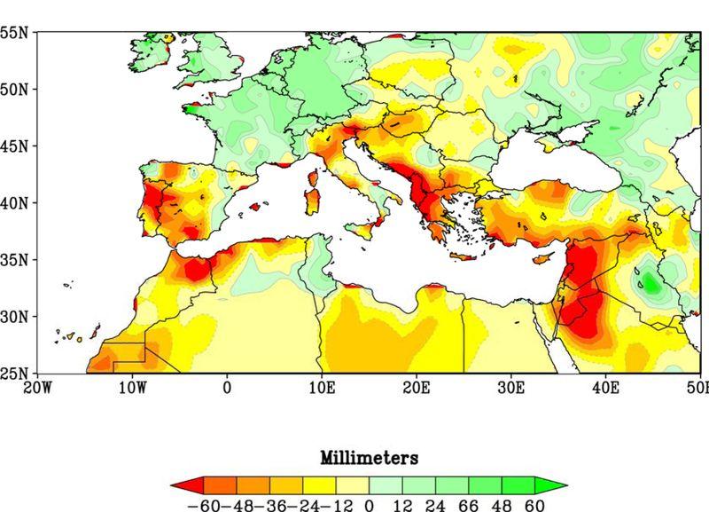 Winter precipitation trends in the Mediterranean region