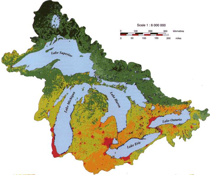 Map Of Canada 5 Great Lakes.Environmental Threat Map Highlights Great Lakes Restoration